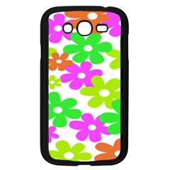 Flowers Floral Sunflower Rainbow Color Pink Orange Green Yellow Samsung Galaxy Grand Duos I9082 Case (black)
