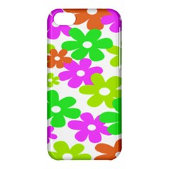 Flowers Floral Sunflower Rainbow Color Pink Orange Green Yellow Apple Iphone 5c Hardshell Case by Alisyart