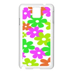 Flowers Floral Sunflower Rainbow Color Pink Orange Green Yellow Samsung Galaxy Note 3 N9005 Case (white) by Alisyart