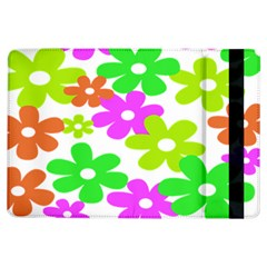 Flowers Floral Sunflower Rainbow Color Pink Orange Green Yellow Ipad Air Flip by Alisyart