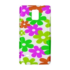 Flowers Floral Sunflower Rainbow Color Pink Orange Green Yellow Samsung Galaxy Note 4 Hardshell Case