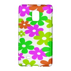 Flowers Floral Sunflower Rainbow Color Pink Orange Green Yellow Galaxy Note Edge