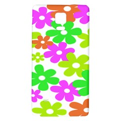 Flowers Floral Sunflower Rainbow Color Pink Orange Green Yellow Galaxy Note 4 Back Case