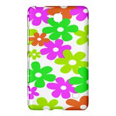 Flowers Floral Sunflower Rainbow Color Pink Orange Green Yellow Samsung Galaxy Tab 4 (7 ) Hardshell Case  by Alisyart