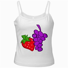 Fruit Grapes Strawberries Red Green Purple White Spaghetti Tank by Alisyart