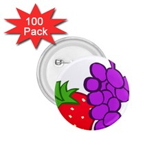 Fruit Grapes Strawberries Red Green Purple 1 75  Buttons (100 Pack)  by Alisyart