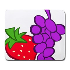 Fruit Grapes Strawberries Red Green Purple Large Mousepads by Alisyart