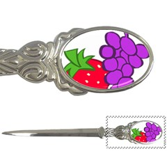 Fruit Grapes Strawberries Red Green Purple Letter Openers by Alisyart