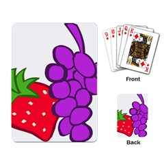Fruit Grapes Strawberries Red Green Purple Playing Card by Alisyart
