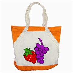 Fruit Grapes Strawberries Red Green Purple Accent Tote Bag