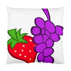 Fruit Grapes Strawberries Red Green Purple Standard Cushion Case (two Sides) by Alisyart
