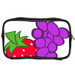 Fruit Grapes Strawberries Red Green Purple Toiletries Bags 2 Side