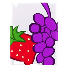Fruit Grapes Strawberries Red Green Purple Apple Ipad 3/4 Hardshell Case by Alisyart