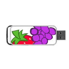 Fruit Grapes Strawberries Red Green Purple Portable Usb Flash (two Sides)