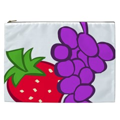 Fruit Grapes Strawberries Red Green Purple Cosmetic Bag (xxl)  by Alisyart