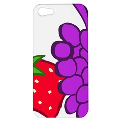 Fruit Grapes Strawberries Red Green Purple Apple Iphone 5 Hardshell Case by Alisyart