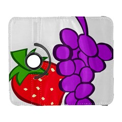 Fruit Grapes Strawberries Red Green Purple Galaxy S3 (flip/folio) by Alisyart