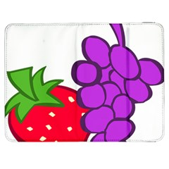 Fruit Grapes Strawberries Red Green Purple Samsung Galaxy Tab 7  P1000 Flip Case by Alisyart