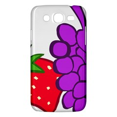 Fruit Grapes Strawberries Red Green Purple Samsung Galaxy Mega 5 8 I9152 Hardshell Case  by Alisyart