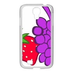 Fruit Grapes Strawberries Red Green Purple Samsung Galaxy S4 I9500/ I9505 Case (white)