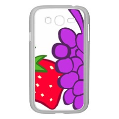 Fruit Grapes Strawberries Red Green Purple Samsung Galaxy Grand Duos I9082 Case (white) by Alisyart