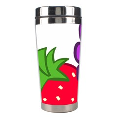Fruit Grapes Strawberries Red Green Purple Stainless Steel Travel Tumblers