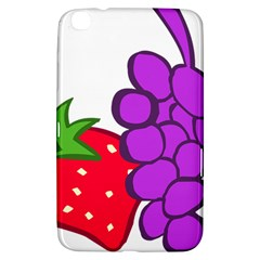 Fruit Grapes Strawberries Red Green Purple Samsung Galaxy Tab 3 (8 ) T3100 Hardshell Case  by Alisyart