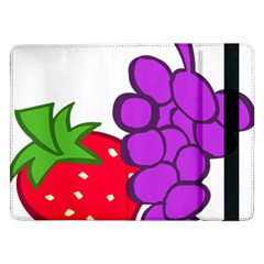 Fruit Grapes Strawberries Red Green Purple Samsung Galaxy Tab Pro 12 2  Flip Case by Alisyart