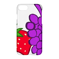 Fruit Grapes Strawberries Red Green Purple Apple Iphone 7 Hardshell Case by Alisyart