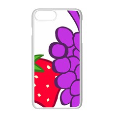 Fruit Grapes Strawberries Red Green Purple Apple Iphone 7 Plus White Seamless Case