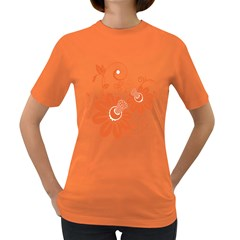 Floral Rose Orange Flower Women s Dark T Shirt by Alisyart