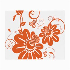Floral Rose Orange Flower Small Glasses Cloth by Alisyart