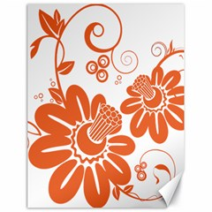 Floral Rose Orange Flower Canvas 18  X 24   by Alisyart