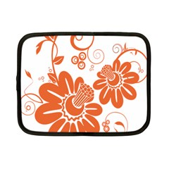 Floral Rose Orange Flower Netbook Case (small)  by Alisyart