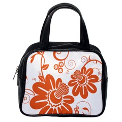 Floral Rose Orange Flower Classic Handbags (one Side) by Alisyart
