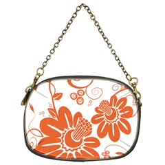 Floral Rose Orange Flower Chain Purses (one Side)  by Alisyart