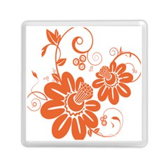 Floral Rose Orange Flower Memory Card Reader (square)  by Alisyart