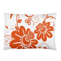 Floral Rose Orange Flower Pillow Case (two Sides) by Alisyart