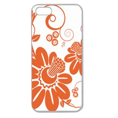 Floral Rose Orange Flower Apple Seamless Iphone 5 Case (clear) by Alisyart