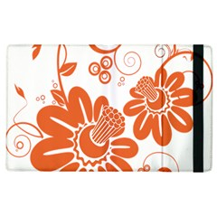Floral Rose Orange Flower Apple Ipad 3/4 Flip Case by Alisyart