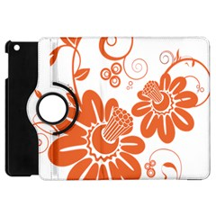 Floral Rose Orange Flower Apple Ipad Mini Flip 360 Case by Alisyart