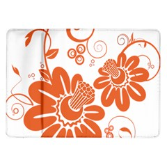Floral Rose Orange Flower Samsung Galaxy Tab 10 1  P7500 Flip Case