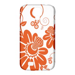 Floral Rose Orange Flower Samsung Galaxy S4 Classic Hardshell Case (pc+silicone) by Alisyart