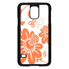 Floral Rose Orange Flower Samsung Galaxy S5 Case (black) by Alisyart