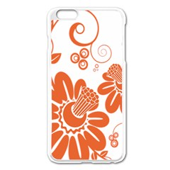Floral Rose Orange Flower Apple Iphone 6 Plus/6s Plus Enamel White Case by Alisyart