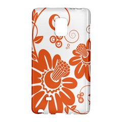 Floral Rose Orange Flower Galaxy Note Edge