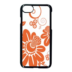 Floral Rose Orange Flower Apple Iphone 7 Seamless Case (black) by Alisyart