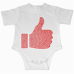 Heart Love Valentines Day Red Sign Infant Creepers