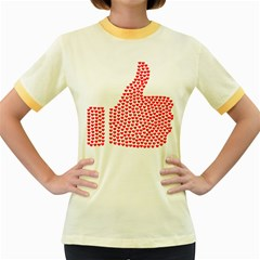 Heart Love Valentines Day Red Sign Women s Fitted Ringer T Shirts by Alisyart