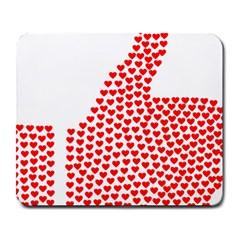 Heart Love Valentines Day Red Sign Large Mousepads by Alisyart